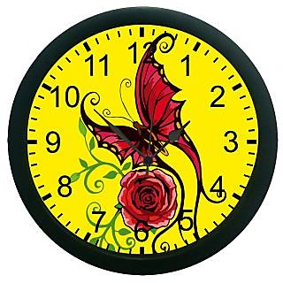 AE World Butter Fly Wall Clock (With Glass)