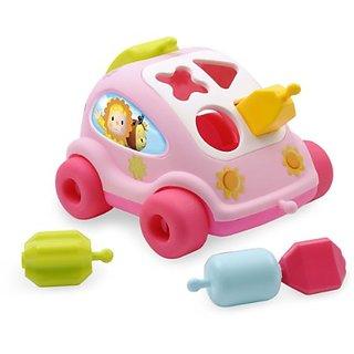 Cotoons Shape Sorter Car, Pink