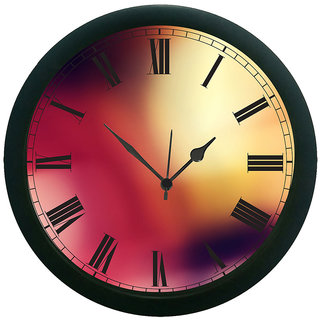 AE World Multi Colour Wall Clock (With Glass)