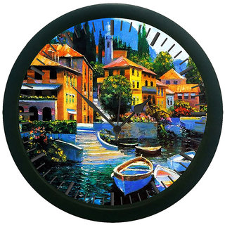 AE World City of water Wall Clock (With Glass)