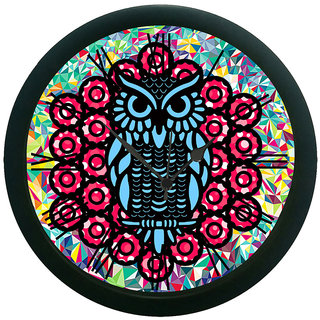 AE World Ethnic Owl Multi Wall Clock (With Glass)