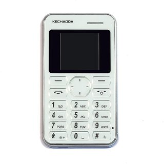 Kechaoda K116 Credit card size phone MP3/Mp4 video player/Bluetooth/White color
