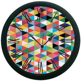 AE World Geometrical Multi Wall Clock (With Glass)
