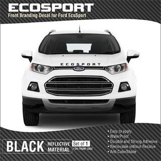 Buy Ford Ecosport Front Branding Decal Black Reflective Online Get