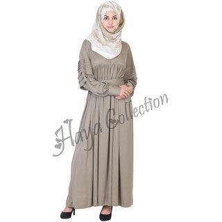 Pleated Sleeves Abaya