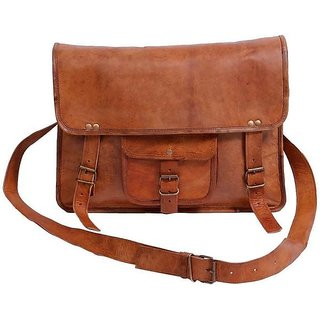 Tuzech 11 inch, 15 inch Laptop Messenger Bag  (brown) 11 inches