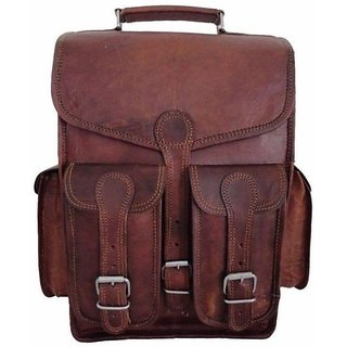 Tuzech  14 inch Laptop Backpack  (Brown)