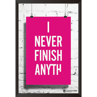 Hungover I Never Finish Anything Special Paper Poster (12x18 inches)