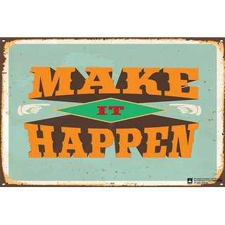 Hungover Make It Happen Special Paper Poster (12x18 inches)