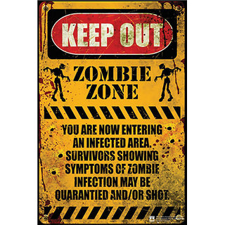 Hungover Zombie Zone Special Paper Poster (12x18 inches)