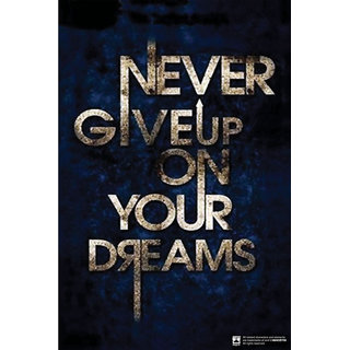Hungover Never Give Up On Your Dreams Special Paper Poster (12x18 inches)