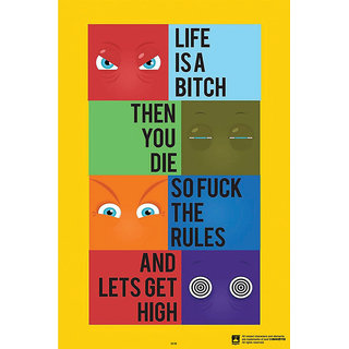 Hungover Lets Get High Special Paper Poster (12x18 inches)