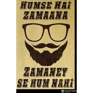 Hungover Hamse Hai Zamana Special Paper Poster (12x18 inches)