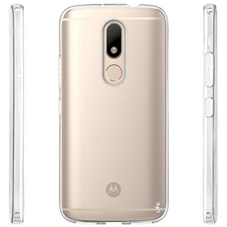 Premium Ultra Thin Transparent Silicone Back Case Cover For Motorola Moto M