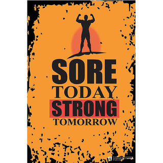 Hungover Sore Today Strong Tomorrow Special Paper Poster (12x18 inches)