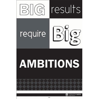 Hungover Big Results Require Big Ambitions Special Paper Poster (12x18 inches)