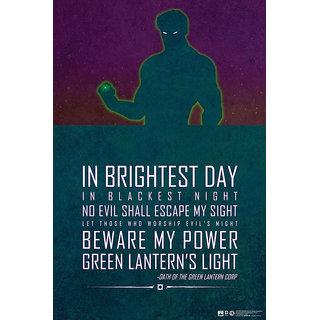 Hungover Green Lantern Justice League Quote Special Paper Poster (12x18 inches)