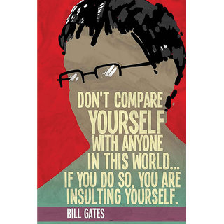 Hungover Bill Gates Quotes Special Paper Poster (12x18 inches)