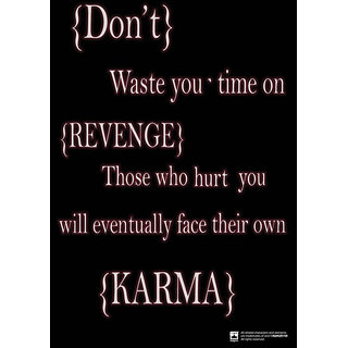 Hungover Karma Special Paper Poster (12x18 inches)