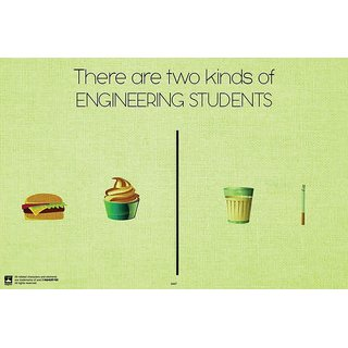 Hungover Engineering Students Special Paper Poster (12x18 inches)