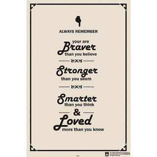 Hungover Braver Stronger And Smarter Special Paper Poster (12x18 inches)