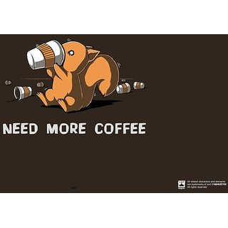 Hungover Need More Coffee Special Paper Poster (12x18 inches)
