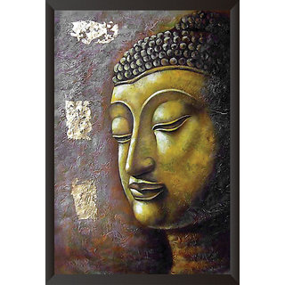Hungover Buddha Side Face Special Paper Poster (12x18 inches)