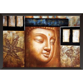Hungover Gautam Buddha Special Paper Poster (12x18 inches)