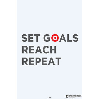 Hungover Set Goals Reach Repeat Special Paper Poster (12x18 inches)