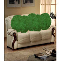Deal Wala Set Of 5 Attractive Circle Rose Design Cushion Cover-green