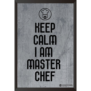 Hungover Keep Calm Master Chef Special Paper Poster (12x18 inches)