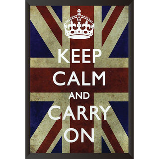 Hungover Keep Calm And Carry On Special Paper Poster (12x18 inches)