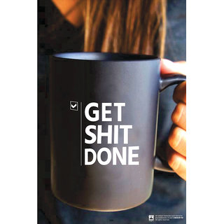 Hungover Get Shit Done Special Paper Poster (12x18 inches)