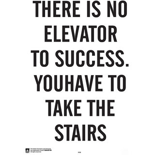 Hungover No Elevator To Success Special Paper Poster (12x18 inches)