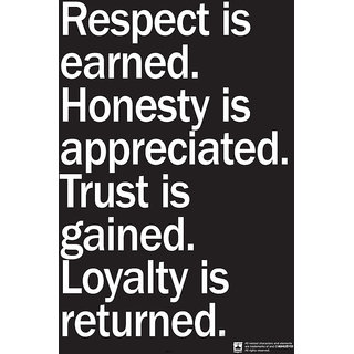 Hungover Respect Is Earned Special Paper Poster (12x18 inches)