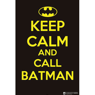 Hungover Keep Calm And Call Batman Special Paper Poster (12x9 inches)