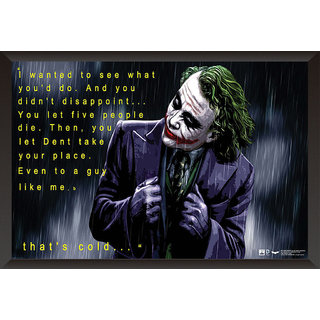 Hungover Joker Heath Ledger Quote Special Paper Poster (12x9 inches)