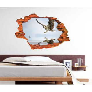 Impression Wall Eagle 3D Art Poster
