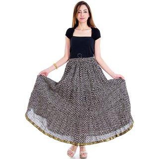 Ethinic Girls Designer Geometric Pattern Long Skirt