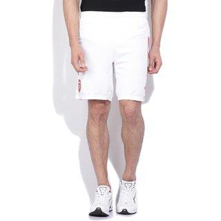 White football logo printed sports shorts