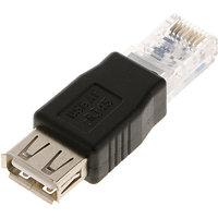 RJ45 Male To USB AF A Female Adapter Socket LAN Network Ethernet Router Plug