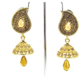 Golden Stone Mango Stone Earring