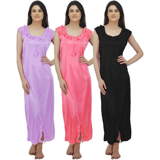29188544a58 Buy Arlopa Multicolor Satin Plain Night Gowns Nighty Online - Get 72 ...