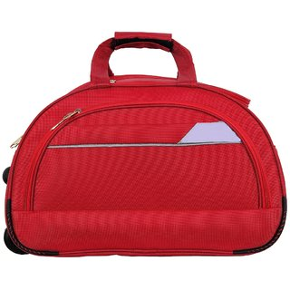 Trustedsnap Red Trolley Duffle Bag