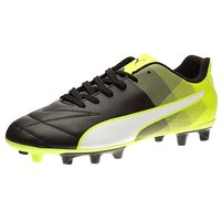 Puma Men's Adreno II FG Puma Black, Puma White And Safety Yellow Football Boots