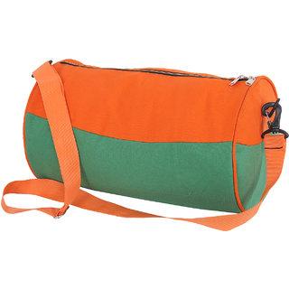 Trustedsnap Orange  Green Gym Bag