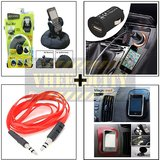 Bracketron Heavy Duty Mobile Holder & Aux Cable & Usb Charger & Spider Anti Slip Mat