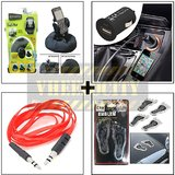 Bracketron Heavy Duty Mobile Holder & Aux Cable & Usb Charger & Foot Emblem
