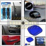 Compact Door Guard Black & Black Bumper Guard & I Pop Sticky Pad & Stick On Sunshade Blue Set Of 2 Pcs.
