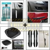 Wine Door Guard White & Black Bumper Guard & I Pop New Door Guard & Stick On Sunshade Black Set Of 2 Pcs.